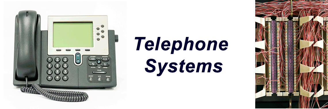 Telephone systems installation supply repair service