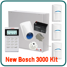 Bosch 3000 Home Alarm System packaged deal