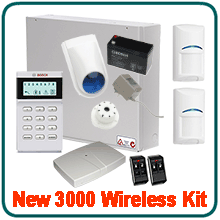 Bosch 3000 Wireless Alarm System package