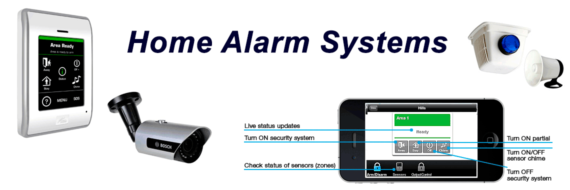 Home Alarm Systems installation, supply repair service