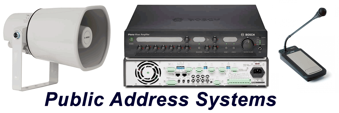 Public Address systems installation supply repair service